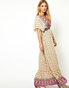 This is a dream dress // Pepe Jeans Kimono Maxi Dress