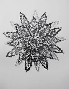 Silver and Charcoal Star Mandala Print Sketch Painting, Body Painting, Mandela Art, Mandala Print, Textures Patterns, Diy Art, Fiber Art, Art Photography, Sketches