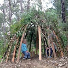 How to make a bush cubby or play house | GardenDrum