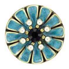 Daisy Denim Snap. 18mm size.