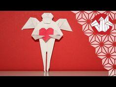 Ce petit cœur ailé est un origami très facile créé par Fumiaki Shingu. Il se plie dans un carré de papier duo de la taille que vous souhaitez. Il fera un jol...