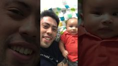 Baby Xander punches his dad