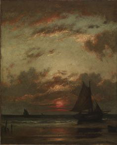 Jules Dupre - Sunset on the Coast, 1870-75, oil on canvas, 74.1 x 60.8 cm