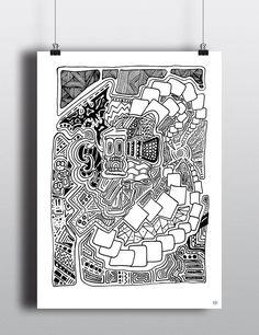 sketchbook-illustration-stephen-cunniffe-1 Black And White Illustration, Illustrations, Shower, Prints, Rain Shower Heads, Illustration, Showers, Illustrators