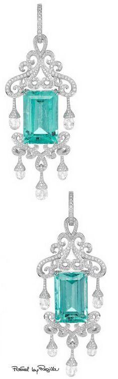 Aquamarine ,diamond briolette,and diamonds save by Antonella Rossi