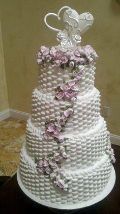 Basket Weave Wedding Cake by LDCakes