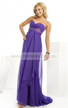 Sleeveless Zipper Sweetheart Floor-length Chiffon Formal Dresses dt00331--Hodress