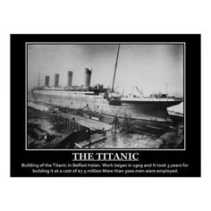 Shop Building of Titanic 1909 Vintage Image Poster created by Vintage_Prints. Titanic Boat, Rms Titanic, Titanic Wedding, Titanic Poster, Navy Ships, Poster Prints, Art Prints, Modern Artwork, Wedding Programs
