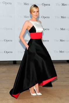 Diane Kruger in Prabal Gurung dress at the Met Opera Season Opening Celebrity Dresses, Celebrity Style, Gurung Dress, Beautiful Dresses, Nice Dresses, Gorgeous Dress, Diane Kruger, Prabal Gurung, Fashion Mode
