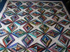 A stunning string quilt 'Diamonds are Forever'