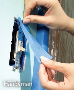 Removing obstacles saves a lot of time and makes for a faster, neater paint job.