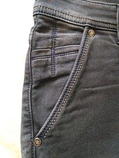 Denim Pocket Detailing for Men Denim Jeans Men, Mens Trousers Casual, Boys Jeans, Men Casual, Elastic Jeans, Denim Fashion, Jeans Style, Levis, Latest Fashion Trends
