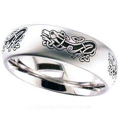 Geti Celtic Dragon Titanium Ring