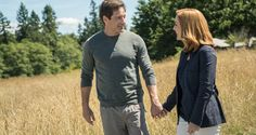 Holding hands.... ____________________________ Mulder and Scully walk hand-in-hand in The X-Files Season 10, episode 5, Babylon