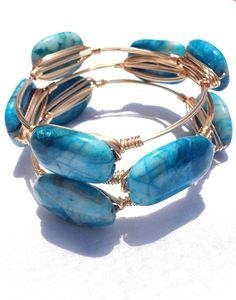 The Larimar gold bauble bangle by LuELsDecor on Etsy, $15.99