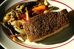 Fennel and Black Peppercorn Crusted Swordfish with Pan Roasted Carrots--- Been in a Fennel kind of mood! Very delicious!