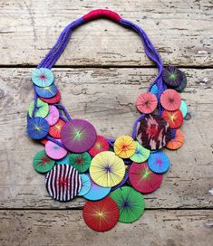 Platillos Saucers Recycled Textile Necklace