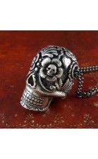 Large Sugar Skull Necklace