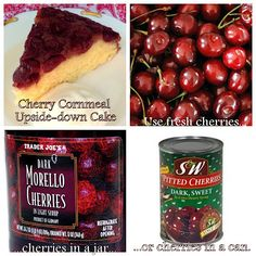 : Skillet Cherry Cornmeal Upside-down Cake