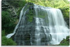 Burgess Falls State Park - Tennessee. Climbing up these rocks is so fun.