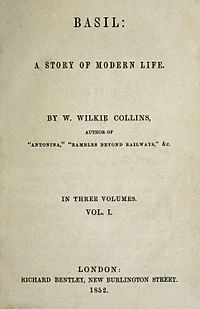 Title page to Wilkie Collins's Basil. I review the novel in full on my blog.