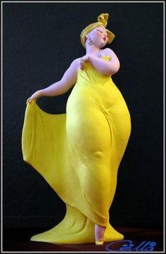 Автор этих милых толстушек -Эмилио Casarotto, итальянский скульптор