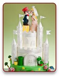 Awesome Mario Bros. wedding cake.