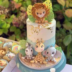 Fondant Toppers, Fondant Cakes, 1st Bday Cake, Safari Cakes, Jungle Cake, Safari Party, Little Cakes, Cake Art, Let Them Eat Cake