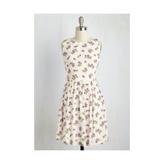 Boho Mid-length Sleeveless A-line To Be ($60) ❤ liked on Polyvore featuring dresses, apparel, fashion dress, multi, ruched cocktail dress, white polka dot dress, white a line dress, white bohemian dress and cream cocktail dress