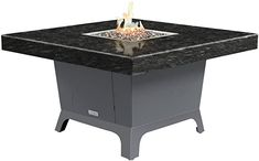 Amazon.com: COOKE Parkway Square fire Pit Table - 48 x 48 - Dining Height - Propane - Black Pearl Granite Top - Grey Texture Powdercoat Base: Kitchen  Dining Outdoor Heaters, Patio Heater, Square Fire Pit, Granite Tops, Fire Pit Table, Powder Coating, Kitchen Dining, Pearl, Base