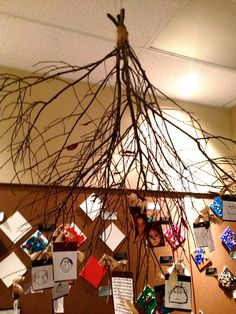 Rose Parks Preschool, a Reggio Inspired school, had so many hanging art pieces.  I am sharing a few of these amazing collaborative art pieces.  The strands of assorted beads, ribbons, and other objects that the children created. These were all hung from a tree branch.  Beautiful!  I love full branches like this one.  The children's …
