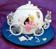 Homemade Cinderella Carriage Cake: This Cinderella carriage cake was made for a Charity fete last year which supports children with terminal or degenerative illnesses.  It's called The Rainbow
