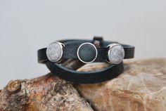 Wickelarmbänder - MUSTER - Lederwickelarmband schwarz mit Perlen - ein Designerstück von DaiSign bei DaWanda
