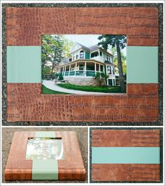 Lux Photo Album, 11x14 in two material combination with image cut-out.