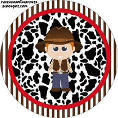 Cowboy - Complete Kit with frames for invitations, labels for goodies, souvenirs and pictures! | Making Our Party