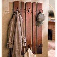 I like the idea of lower hooks for the kids and higher ones for adults - lots of hooks for guests....