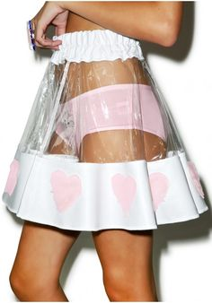 Indyanna-COURTNEY PVC HEART SKIRT Pvc Skirt, Skater Skirt, Pvc Trim, Rave Outfits, Fashion Outfits, Fashion Sets, Street Style Women, Goth Skirt, Elastic Waist Skirt