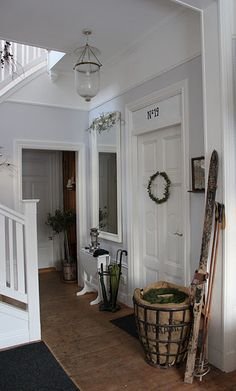 Lovely white hallway