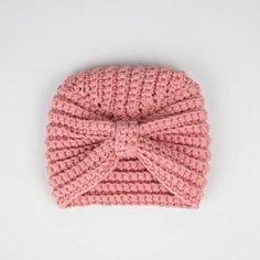 Turban Crochet, Bonnet Crochet, Crochet Beanie, Crochet Baby Hats Free Pattern, Baby Girl Crochet, Crochet Baby Clothes, Baby Clothes Patterns, Sewing Patterns, Crochet Patterns
