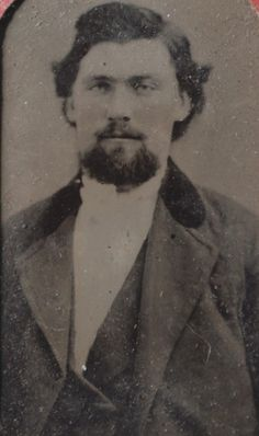 David Mechling as a young man, my great-great Grandfather.