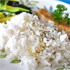 Lemon Dill Rice - Allrecipes.com  Use half the dill seed and less lemon juice for instant rice.