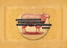 bible quote sheep isaiah vintage Text art