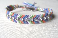 Friendship Bracelet Chevron Embellished w/ by tjalaine on Etsy - StyleSays