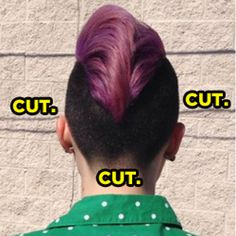 For those not in the know : An undercut is when the sides and back sections of your head are buzzed or cut short. | In Appreciation Of All The Ladies Rocking An Undercut
