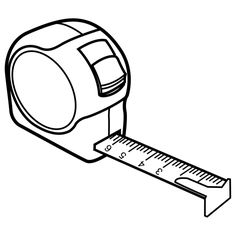 tAPEMEASURE picture to color | tape-measure - free coloring pages