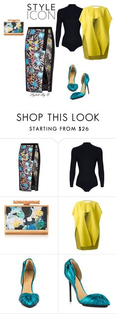 """""""Do... Step Outside The Box!"""" by quintan ❤ liked on Polyvore featuring Peter Pilotto, Monique Lhuillier, Esteban Cortazar and L.A.M.B."""