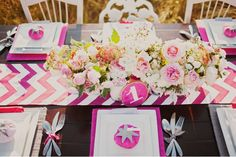 pink chevron table runner for wedding table Wedding Trends, Wedding Designs, Wedding Ideas, Chevron Table Runners, Reception Decorations, Table Decorations, Party Like Its 1999, May Weddings, Pink Weddings