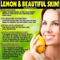 paleo hair, skin and beauty lemon