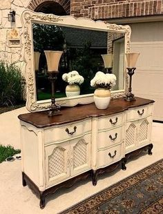 50 Incredible Two Tone Furniture Painting Design Ideas - ROUNDECOR - Tone furniture painting design 28 You are in the right place about vintage furniture Here we offer - Refurbished Furniture, Repurposed Furniture, Shabby Chic Furniture, Furniture Makeover, Vintage Furniture, Painted Furniture, Rustic Furniture, Modern Furniture, Furniture Projects