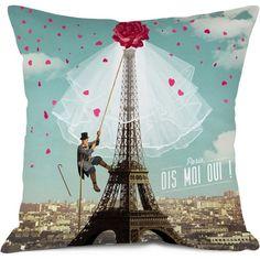Let's celebrate love in the city of love ; Tour Eiffel, Paris Eiffel Tower, Paris Home Decor, Parisian Decor, J'ai Dit Oui, Small Cushions, Deco Originale, Tree Trunks, Home Organization